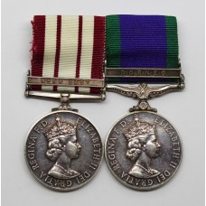 Naval General Service Medal (Clasp - Near East) & Campaign Service Medal (Clasp - Borneo) - Mech.1., Royal Navy