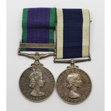 Campaign Service Medal (Clasp - Malay Peninsula) and Royal Naval Long Service & Good Conduct Medal - V. Willingham, R.E.A.(A).1., Royal Navy