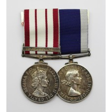 Naval General Service Medal (Clasp - Near East) and Royal Naval Long Service & Good Conduct Medal - L. Daley, P.O.M.(E)., Royal Navy