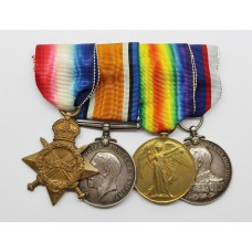 WW1 1914-15 Star, British War Medals, Victory Medal and Royal Fleet Reserve LS&GC Medal Group of Four - H. Watts, A.B., Royal Navy / Royal Fleet Reserve, H.M.S. Minotaur