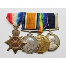 WW1 1914-15 Star, British War Medal, Victory Medal & Royal Naval LS&GC Medal Group - J. Keith, A.B., Royal Navy (Battle of Jutland)