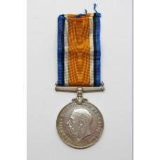 WW1 British War Medal - W.O.Cl.2. D. Charlton, Notts & Derby Regiment (Sherwood Foresters)