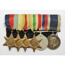 WW2 and Royal Naval Long Service & Good Conduct Medal Group of Six - J.E. Hepworth, P.O. S.M., Royal Navy, H.M.S. Drake