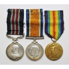 WW1 Military Medal, British War Medal & Victory Medal Group - Sjt. F. Smith, 15th (Bantams) Bn. Notts & Derby Regiment (Sherwood Foresters)