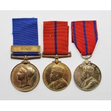 1887 Police Jubilee Medal (Clasp - 1897), 1902 Police Coronation Medal & 1911 Police Coronation Medal Group of Three - PC. G. Austen, R Division, Metropolitan Police