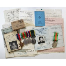 WW2 and Territorial Efficiency Medal (Militia) Medal Group - L.T. A. Colbert, Royal Artillery & Royal Pioneer Corps plus WW2 Defence Medal - Mrs D.B. Colbert, Ambulance Section Leader (Husband & Wife)
