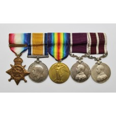 WW1 1914 Mons Star, British War Medal, Victory Medal, Army LS&GC and Meritorious Service Medal Group of Five - Sjt. J. Boags, Royal Scots Fusiliers