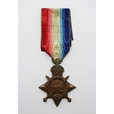WW1 1914-15 Star - Pte. E. Dewick, 1st/4th (Hallamshire) Bn. York & Lancaster Regiment