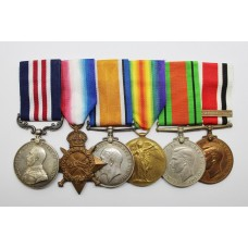 WW1 Military Medal (Somme), 1914-15 Star, British War Medal, Victory Medal, WW2 Defence Medal & Special Constabulary Long Service Medal Group of Six - Sjt. J. Henny, 13th Bty. Royal Field Artillery