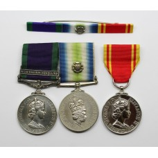 Campaign Service Medal (Clasp - Northern Ireland), South Atlantic Medal (with Rosette) and Fire Brigade LS&GC Medal Group - L.Cpl. S.W. Pashley, Royal Signals
