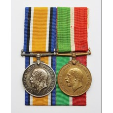 WW1 Mercantile Marine Medal Pair - Horace T. Hatton