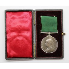 Victorian Volunteer Long Service & Good Conduct Medal in Fitted Box - Unnamed