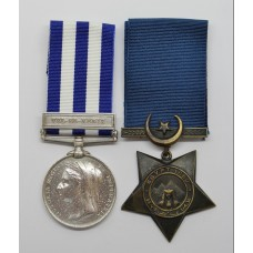 Egypt Medal (Clasp - Tel-El-Kebir) and 1882 Khedives Star - Sergt. J. Wright, 2nd Grenadier Guards