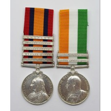 Queen's South Africa Medal (Clasps - Belmont, Modder River, Driefontein, Johannesburg, Belfast) & King's South Africa Medal (Clasps - South Africa 1901, South Africa 1902) - Corpl. C. Sharp, Grenadier Guards