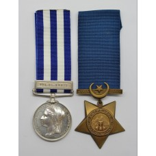 Egypt Medal (Clasp - Tel-El-Kebir) and 1882 Khedives Star - Pte. J. Stanhope, 2nd Grenadier Guards