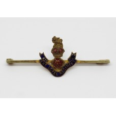 Loyal Regiment Enamelled Sweetheart Brooch - King's Crown