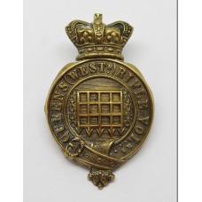 Victorian Queen's Westminster Rifle Volunteers Glengarry Badge