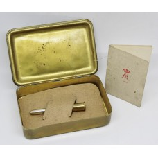 WW1 1914 Princess Mary Christmas Gift Tin with Bullet Pencil & Christmas Card