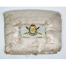 WW1 Royal Fying Corps Silk Embroidered Jewellery Pad / Cushion