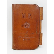 Metropolitan Police 'F' Division (Paddington) Leather Notebook Cover - King's Crown