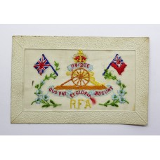 WW1 Royal Field Artillery (R.F.A.) Silk Embroidered Postcard