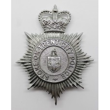 Stoke-on-Trent City Police Helmet Plate - Queen's Crown
