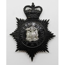 Birmingham City Police Night Helmet Plate - Queen's Crown