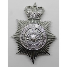 Northumberland Constabulary Helmet Plate - Queen's Crown