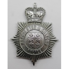 Manchester & Salford Police Helmet Plate - Queen's Crown