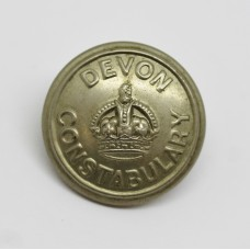 Devon Constabulary Button - King's Crown (Large)