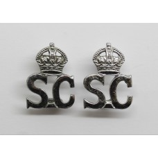 Pair of Special Constabulary Collar Badges - King's Crown