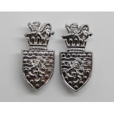 Pair of Devon & Cornwall Constabulary Collar Badges