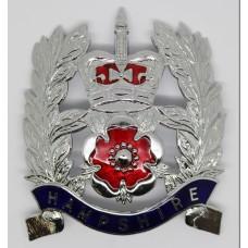 Hampshire Constabulary Sergeants Helmet Plate - Queens Crown