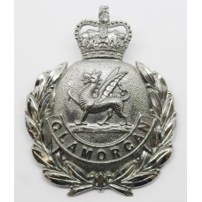 Glamorgan Constabulary Wreath Helmet Plate - Queens Crown