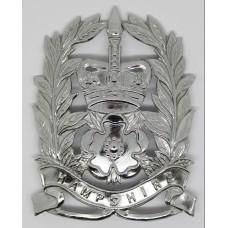 Hampshire Constabulary Constables Helmet Plate - Queens Crown