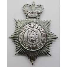 Brighton Borough Police Helmet Plate - Queens Crown