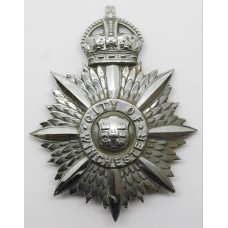 Winchester City Police Helmet Plate - Kings Crown