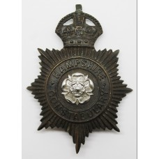 Hampshire Constabulary Night Helmet Plate - Kings Crown