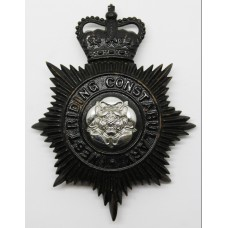 West Riding Constabulary Night Helmet Plate - Queens Crown