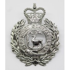 Berkshire Constabulary Wreath Helmet Plate - Queens Crown