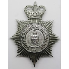 Southport Borough Police Helmet Plate - Queens Crown