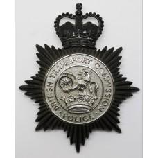 British Transport Commission Police Helmet Plate - Queens Crown