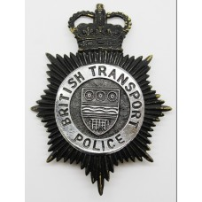 British Transport Police Night Helmet Plate - Queens Crown