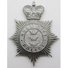 Hull City Police Helmet Plate - Queens Crown