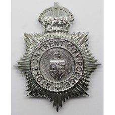 Stoke-on-Trent City Police Helmet Plate - Kings Crown
