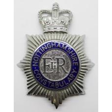 Nottinghamshire Constabulary Enamelled Helmet Plate - Queens Crown