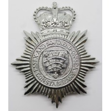 Essex and Southend-on-Sea Constabulary Helmet Plate - Queens Crow