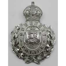 Guernsey Police Wreath Helmet Plate - Kings Crown