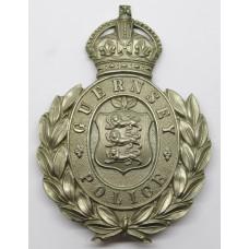 Guernsey Police Wreath Helmet Plate - Kings Crown