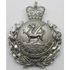 Glamorgan Constabulary Wreath Helmet Plate - Queens Crown